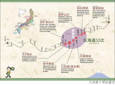 东海道五十三个驿站