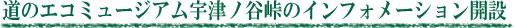 道のエコミュージアム宇津ノ谷峠のインフォメーション開設
