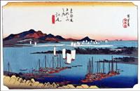 広重の江尻宿